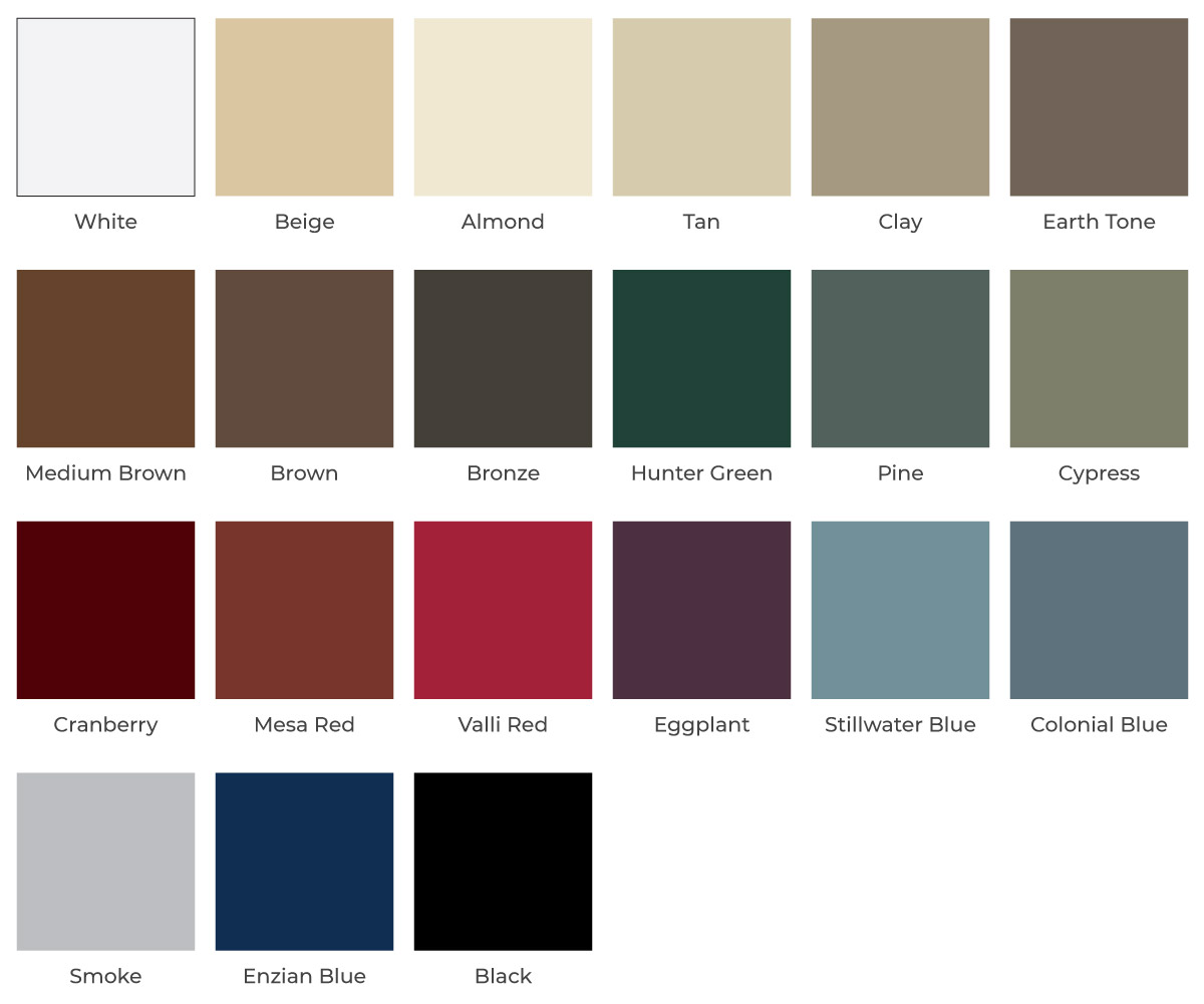 Entry Door Color Options